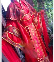 7 Designs Universal Traditional Chinese Wedding Bride Red Costume Hanfu for Anime Chang'an Fantasy Night Red Female Hanfu