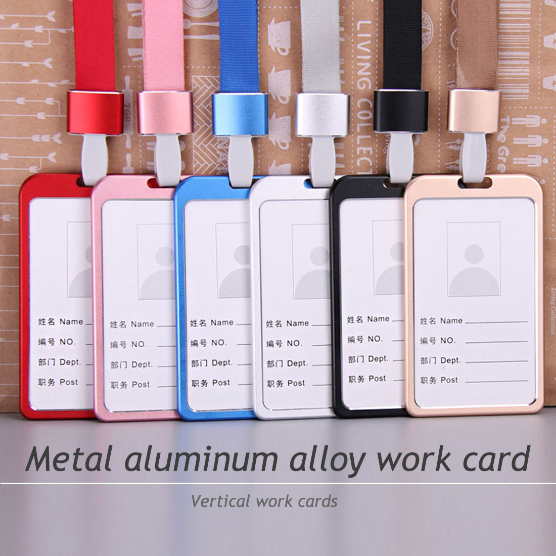 New Fashion Metal Buckle Business Card ID Holder Badge Lanyard Work Card With Adjustable Lanyard For Various Occasions