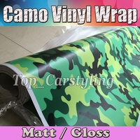 fluorescent green and yellow Camouflage Vinyl Car Wrap Film Camo Vehicle Covering With Air bubble PROTWRAPS SIZE 1.52X30M ROLL