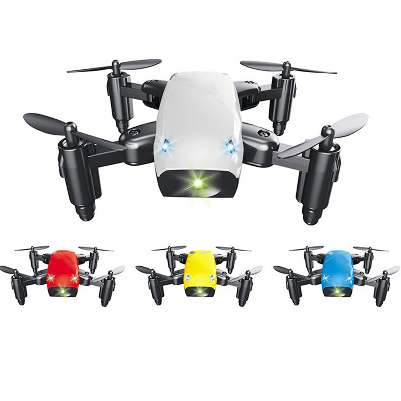RC Helicopter With HD 0.3mp Camera Mini Drone wifi Foldable aerial drones Wifi FPV Pocket Dron RC Quadcopter gift for birthday