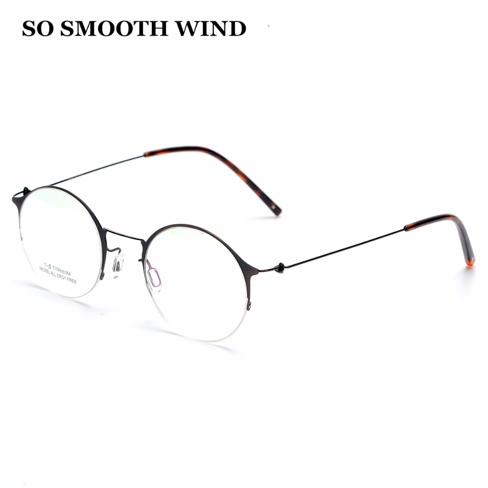 New design for Korean Titanium men glasses frame Vintage Eyewear super light eyeglasses comfortable to wear prescription