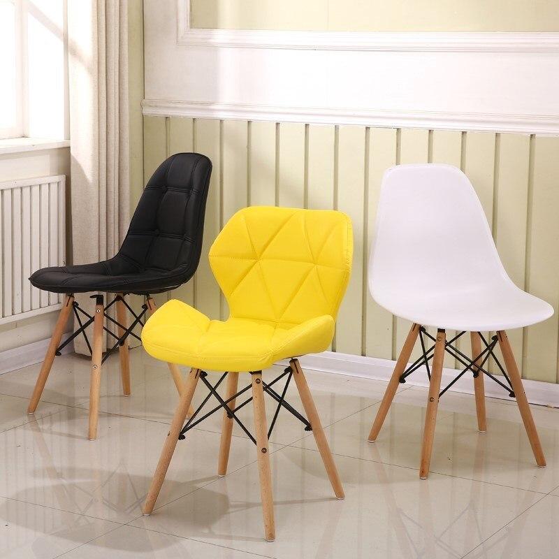 29% 1 pièces moderne minimaliste à manger chaise maison restaurant chaise ordinateur chaise en bois massif nordique salon chaise maquillage chaise