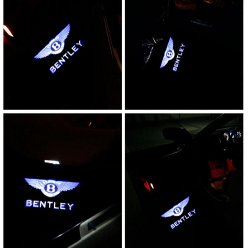 2x Car Door LED Light For Bentley Dedicated Laser