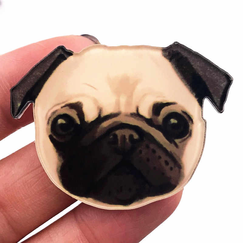 1 個素敵な動物バッジかわいい漫画犬アイコンブローチ服バックパックの装飾パーティーギフトの誕生日プレゼント