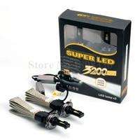 2pcs High Quality Car Light Source 60W 6400LM Car LED Headlight Bulb H4 HB2 9003 Head