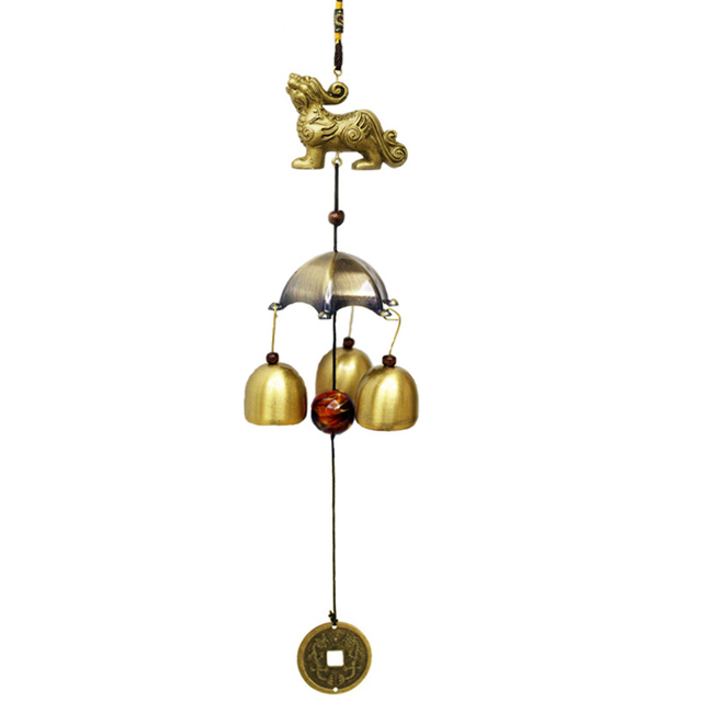 3 Bells Feng Shui Windchimes Home Decoration Outdoor Wind Chimes Traditional Chinese Folk Hanging Door 23 Styles