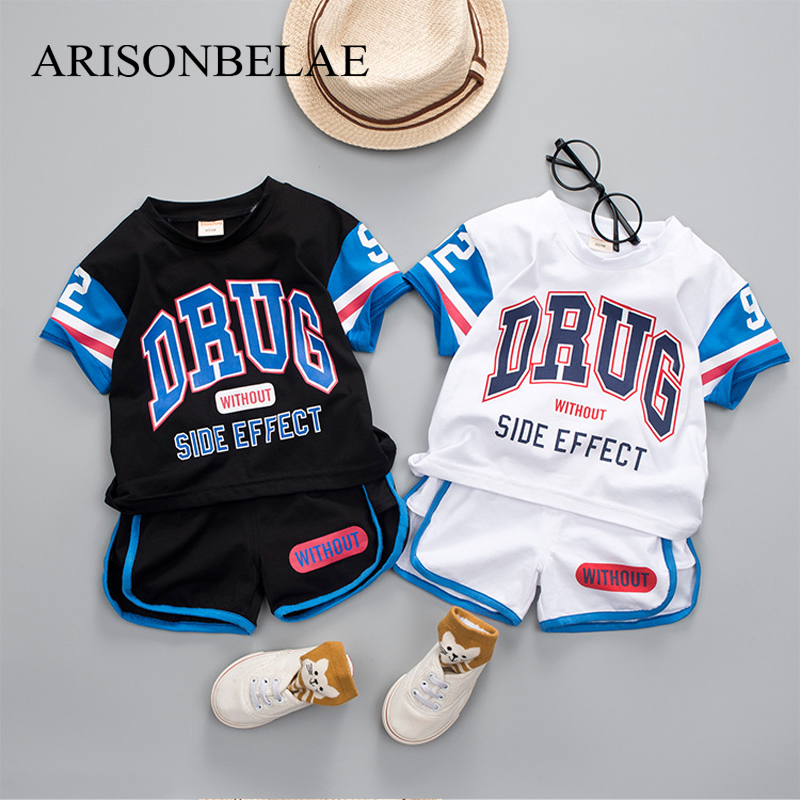 Baby Clothes Boy Summer Top+Pants Sweatshirt Letter Toddler Girls Clothing Set Tracksuit for Girls Boys Sports Suit for A Boy