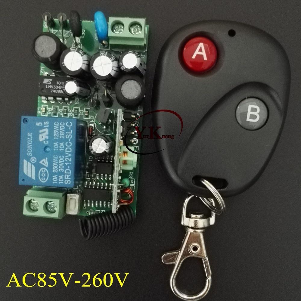 AC110V 230V 100V 240V Remote Control Switch LED Light Lamp Remote ON OFF System 315/433 Receiver Transmitter Remote Switch ac 250v 20a normal close 60c temperature control switch bimetal thermostat