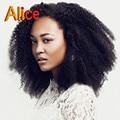 7A Mongol Afro Rizada rizada Del Frente Del Cordón Pelucas Glueless Del Pelo Humano Rizada Peluca rizada Para Las Mujeres Negras Afro Rizada peluca Llena Del Cordón peluca