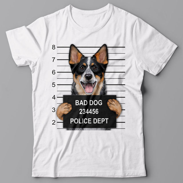 d9887fb7 New Men T Shirt Great Quality Funny Man Cotton Cool T-Shirt Australian  Cattle Dog Mugshot, Gift for Dog Loversbrand T-Shirts