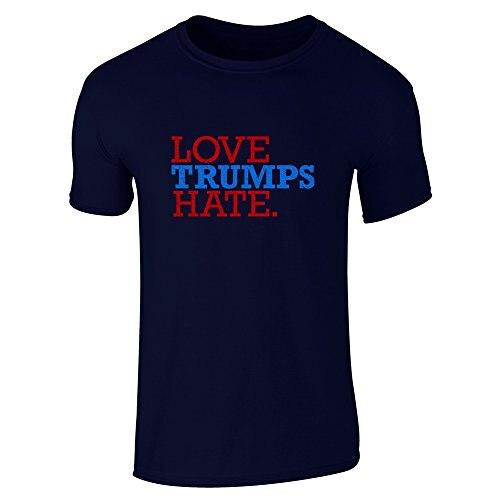 font b Custom b font Fit Graphic Tees Love Trumps Hate Short Sleeve font b