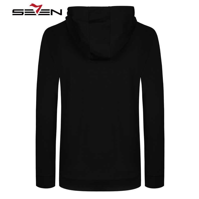 Seven7 marki Hip Hop jesień zimowa bluza z kapturem mężczyźni na co dzień Rock mężczyzna czarny bluzy z kapturem męskie odzież sportowa odzież marki