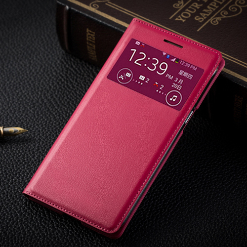 Leather <font><b>Case</b></font> Flip Cover Holster For <font><b>Samsung</b></font> Galaxy <font><b>Grand</b></font> <font><b>2</b></font> Duos <font><b>G7102</b></font> G7105 G7106 Smart View Sleeve Auto Sleep Shell image