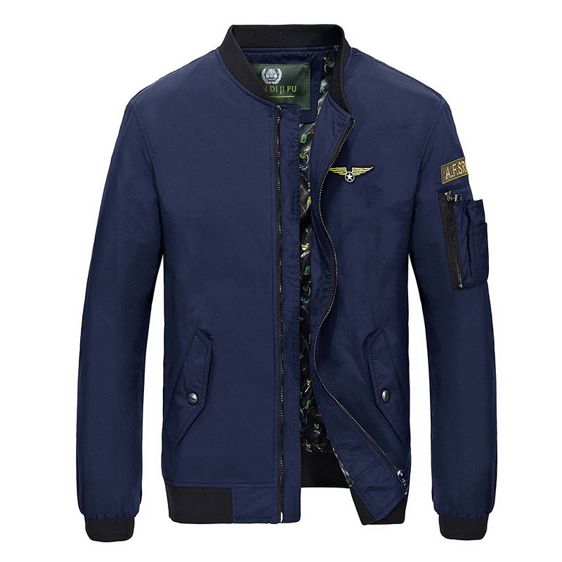 Designs Taille Bombardier Printemps Manteau Bomber Plus Fit Vestes Pilote De Mode La Hop Slim Automne Hommes black army Jacke Hip 4xl Blue Veste Green XW6pz