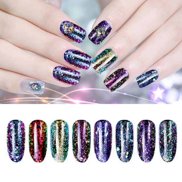 BORN PRETTY Chameleon Transparent UV Gel Polish Soak Off Sequin ...