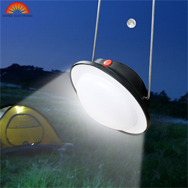 XINREE Solar Light 60LED Outdoor Riding Fishing Tent Emergency Rechargeable Hand Lamp USD Camping Lantern