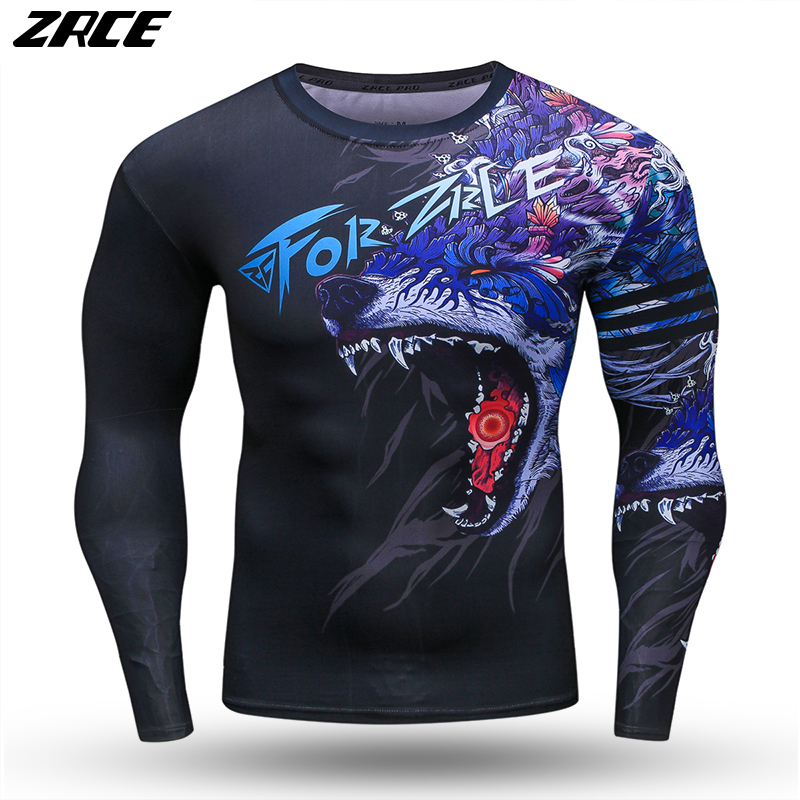 ZRCE Sport Basketball Baseball Jersey Plus Size Dry Fit Breathable Fitness Top Skinny Rugby Shirt Running Training Tee Camisetas