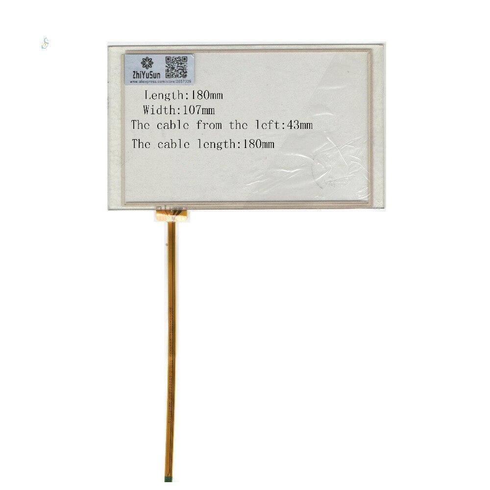ZhiYuSun Atacado 180mm * 107mm NOVO 7 linhas de 4 polegadas Para Carro DVD painel touchscreen 164*98 Sensor de vidro este é compatível