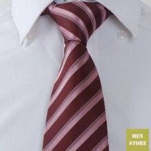 """Красный розовый полосатый мужской жаккардовый тканый шелк ручной работы """" галстук 8 см Галстук Свадебная вечеринка галстук для жениха AT152"""
