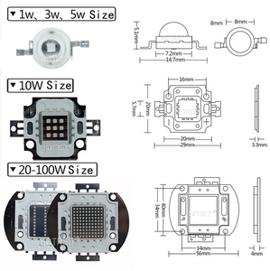 Image 5 - 3W 10W 20W 30W 50W 100W גבוהה כוח UV סגול LED 365nm 370Nm אולטרה סגול נורות מנורת 45mil שבבי אור חרוזים דיודה עבור DIY