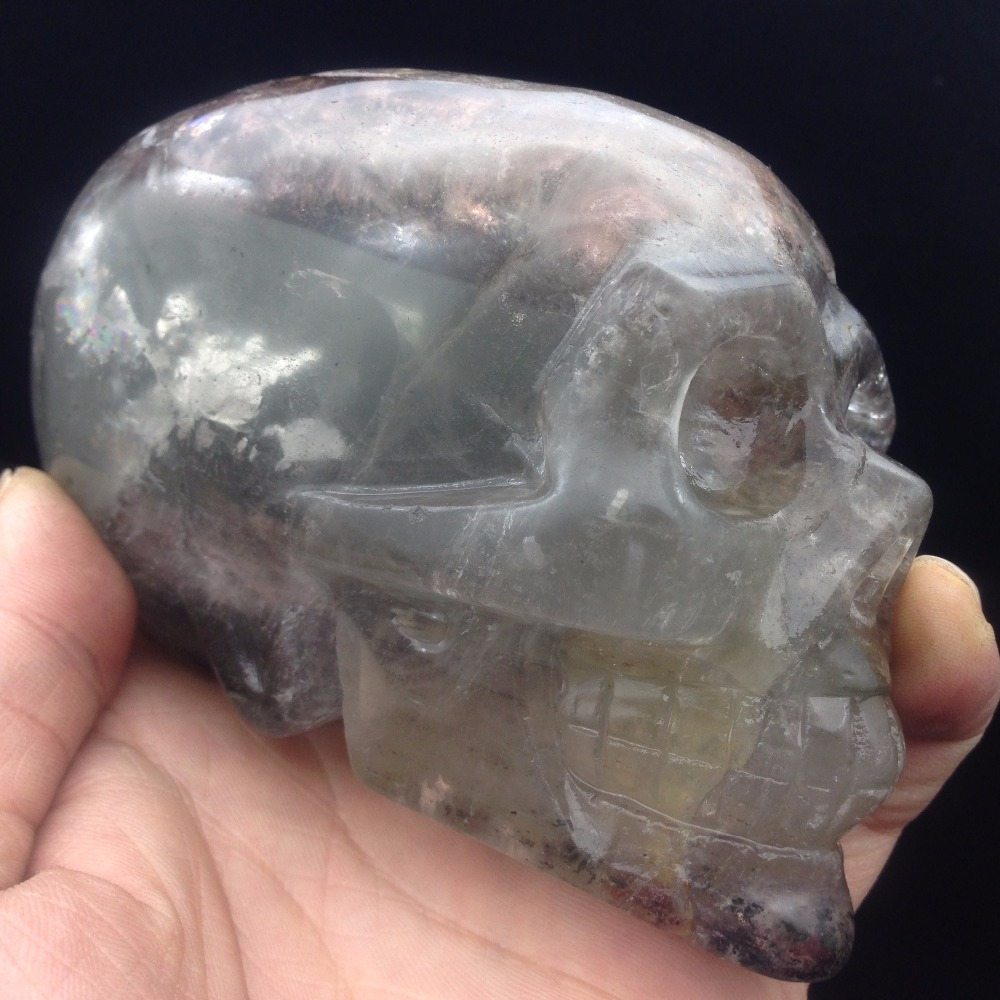Is quartz considered a natural stone - 2017 Hot Sale Natural Stone And Minerals Clear Grenn Phantom Quartz Crystal Skull Carving Healing
