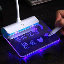 3 Brightness USB Rechargeable Desk Lamp LED Light With Message Board Touch Switch Best Gift For Students Kids