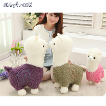 Abbyfrank 40CM Alpaca Plush Doll Toy Fabric Sheep Stuffed Animal Plush Llama Yamma Animal Soft Toys Little Sheep Plush