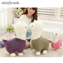 Abbyfrank 40CM Alpaca Plush Doll Toy Fabric Sheep Stuffed Animal Plush Llama Yamma Animal Soft Toys Birthday Gift For Children