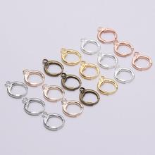 20pcs/lot 14*12mm Silver Gold Earring Hooks Wire Settings Base Hoops Earrings For Jewelry Making Findings Supplies Diy Earrings
