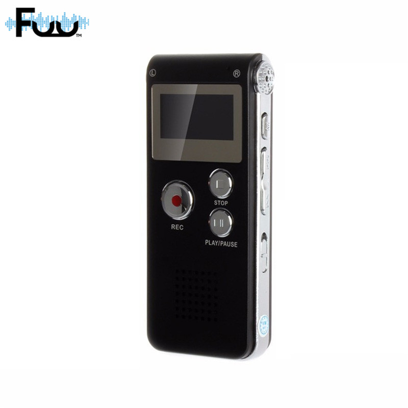 FUU Terbaik 8GB Mini Digital Audio Perekam Suara HD Noise Intelligent - Audio dan video portabel