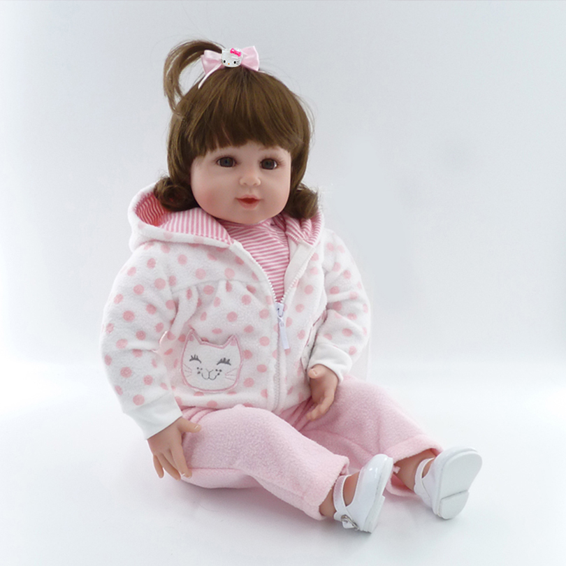 High Quality Realistic Dolls Stuffed Toys Lifelike Bedtime Toys For babies Girl Soft Cotton Reborn Baby Fashion Dolls