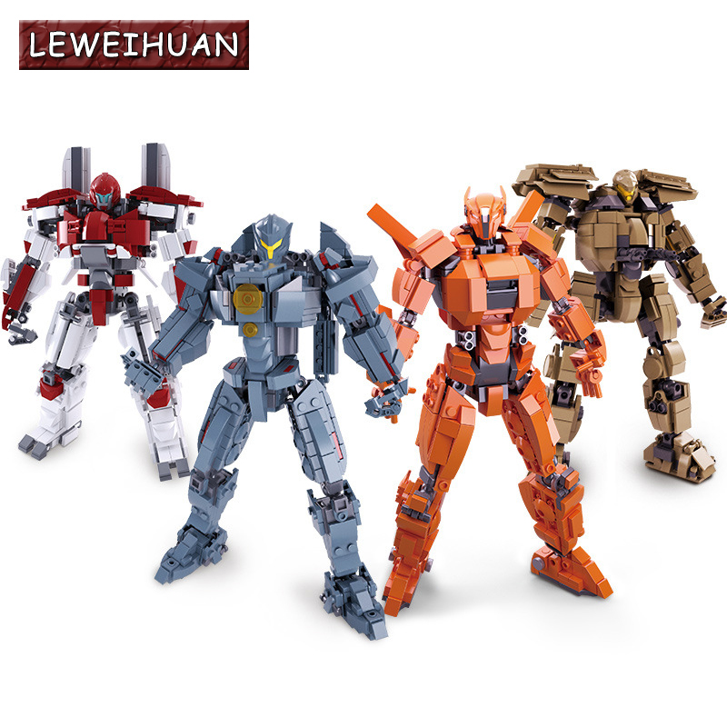 4 Styles Pacific Rim Series Building Block Set Model Robot Armor DIY Bricks Educational Toys Kids Gifts Compatible With Legoed