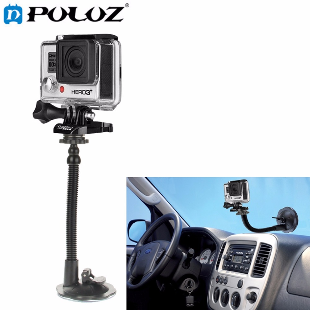 PULUZ For GoPro Accessories Car Suction Cup Mount Holder For GoPro Hero 4 3+ 3 2 1  Sports Action Cameras