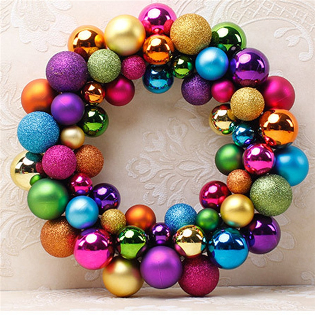christmas wreath ball ornaments shatterproof front door window hanging xmas decoration for holiday event indoor outdoor use in photobooth props from home