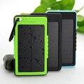 Nueva Prueba de Agua Solar Li-polímero Banco de la Energía 5000 mAh Portátil de Batería Solar Cargador de Batería Externa para el teléfono Móvil