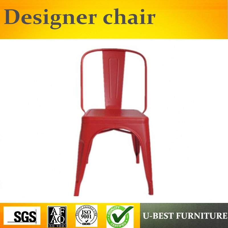 Free shipping U-BEST Popular Powder Coating Commercial Furniture restaurant vintage Industrial metal dining chair steel hotel chair luyisi103025s commercial fabric powder coating finish 5pcs carton safe package