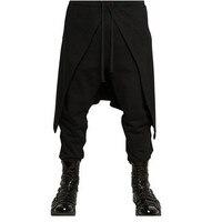 2017 Brand Cool Mens Gothic Punk Style Harem Pants Black Hip Hop Wear Skinny Skirt Pants