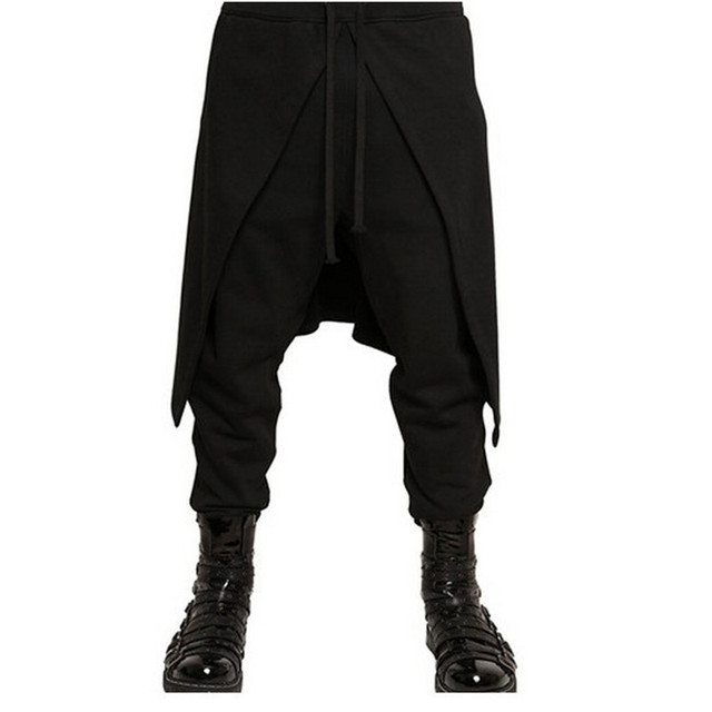 marca falda estilo Cool harem mens flaco Gothic Pantalones desgaste 2017 negro punk Pantalones hop hip SwdqRdO