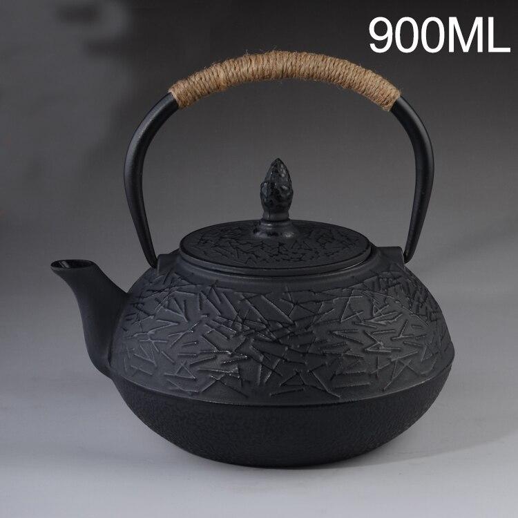Cast Iron Tea Pot Set Japanese Teapot Tetsubin Kettle Drinkware 900ml Kung Fu Tools Stainless Steel