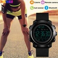 SKMEI Fashion Calorie Pedometro Sport Intelligente Orologio Da Polso Bluetooth Remote Camera LED Digital Orologio Da Polso Impermeabile relogio inteligente