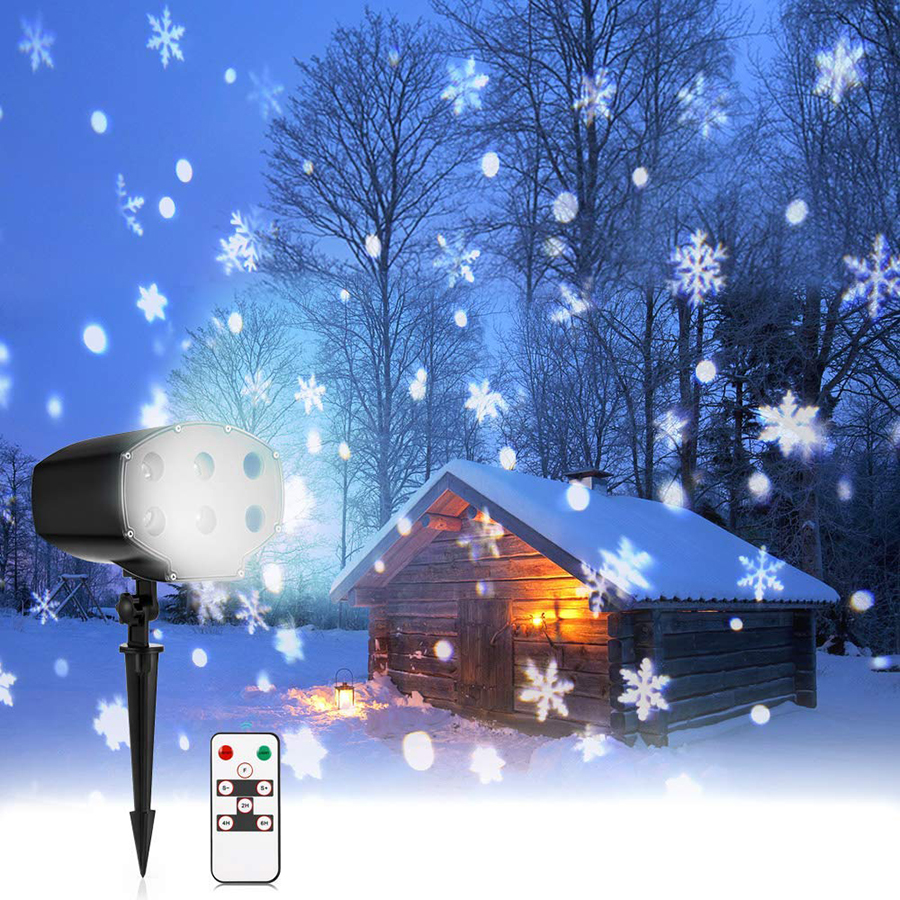 Outdoor Garden Snowflake Laser Light IP65 Moving Christmas Snowflake Projector Stage Light for Xmas Halloween Party Wedding Outdoor Garden Snowflake Laser Light IP65 Moving Christmas Snowflake Projector Stage Light for Xmas Halloween Party Wedding