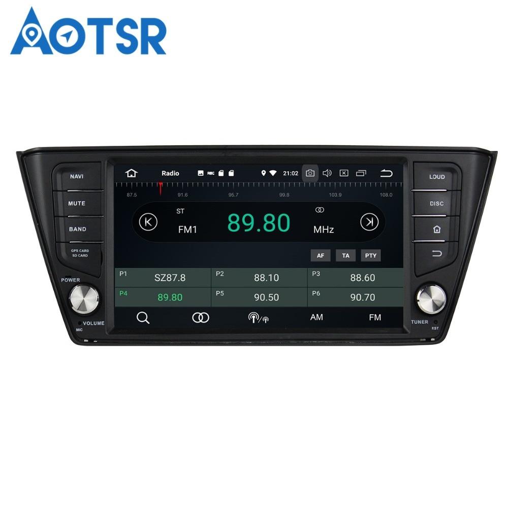 Aotsr Android8.0/7.1 GPS navigation Car NO DVD Player For Skoda Fabia 2015 2017 multimedia radio recorder 2DIN4GB+32GB 2GB+16GB