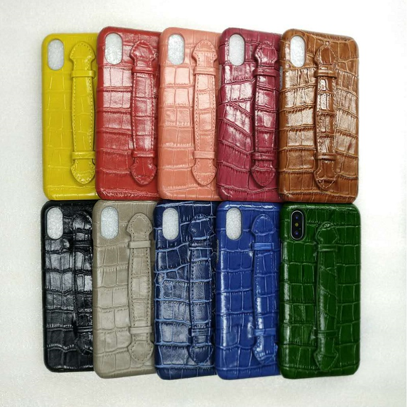 10pcs Lots Bulk Genuine Leather Hand Strap Holder Case For iPhone X XS Max XR Cell