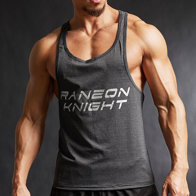 New fashion cotton sleeveless shirts tank top men Fitness shirt mens singlet Bodybuilding workout gym vest fitness men 1