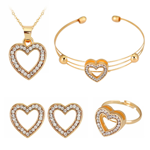 Bride 4pc Cute Heart Shaped Ne