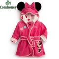 Roupão de Banho do bebê Minnie Mouse Roupões de Banho Roupão de banho de Algodão Dos Desenhos Animados Dos Miúdos das Crianças Meninos Meninas Crianças Poncho Com Capuz Toalha de Bebê Sleepwear
