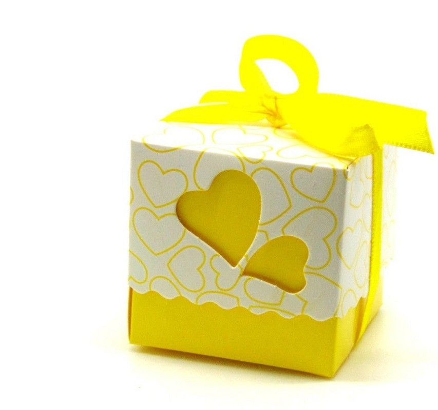 Metable 100pcs lot Romantic Double heart Candy Boxes Festival Wedding Xmas New Year Gift Packaging Box 5 5 5cm wc161s in Gift Bags Wrapping Supplies from Home Garden