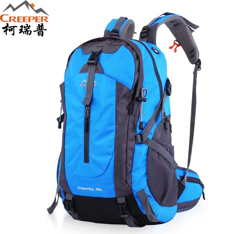 Creeper Free Shipping 45L Professional су өткізбейтін рюкзактар альпинизм көпфункционалды жаяу рюкзактар альпинизм тұғырық 50л