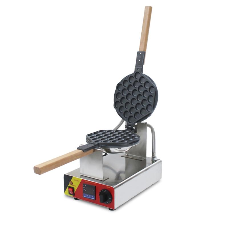 110V 220V 1KW Commercial Electric Egg Waffle Maker With Digital Temperature Control Eggette Waffle Maker Machine EU/AU/UK Plug 10oz stainless steel 110v 220v electric commercial popcorn machine with temperature control