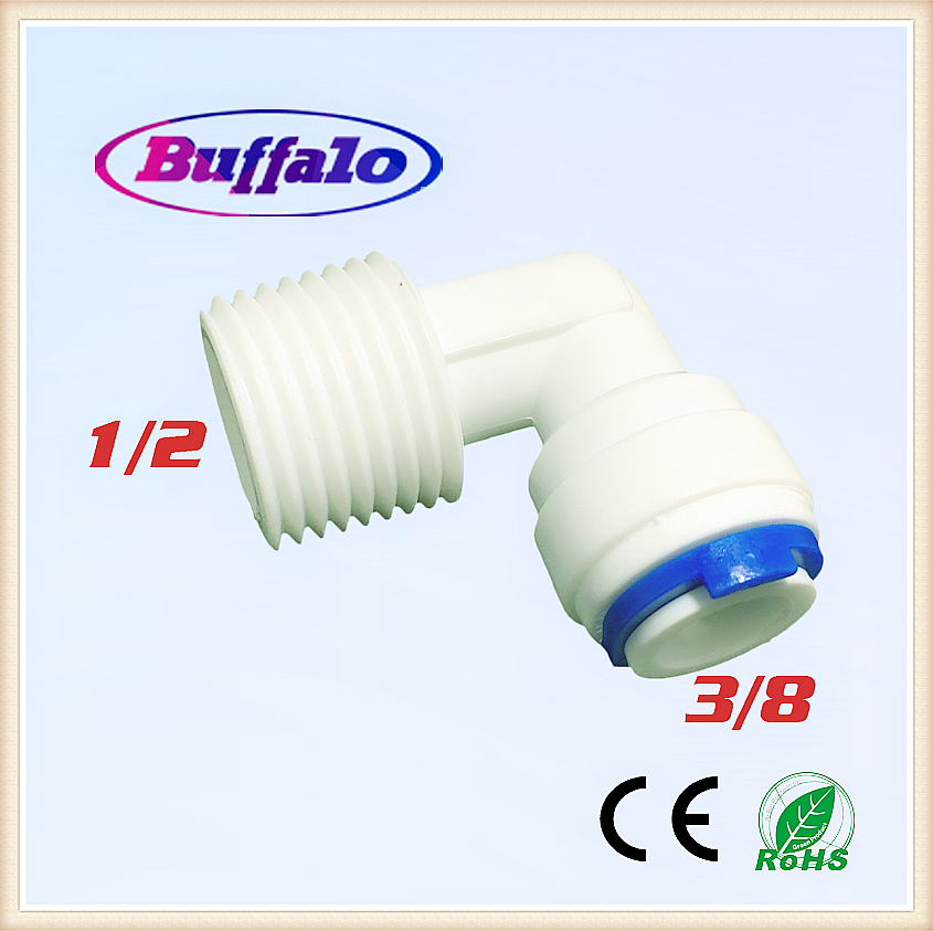 100PCS 3/8 OD Hose Connection 1/2 Male Threaded Elbow Quick Connector Fitting Ro Water Reverse Osmosis Aquarium System слингобусы ti amo мама слингобусы сильвия